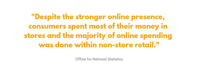 ONS online vs. brick and mortar sales