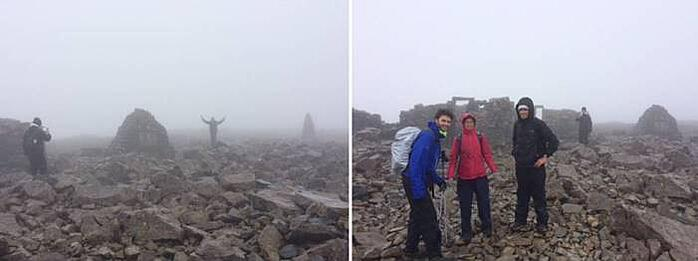 Three peaks challenge - the fog at Ben Nevis