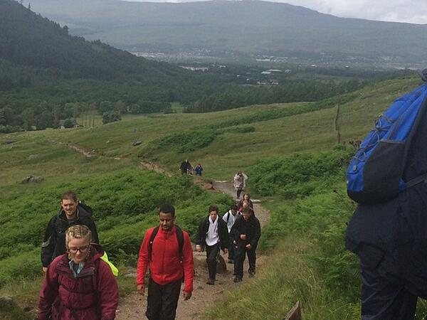 Three peaks challenge - the start of Ben Nevis