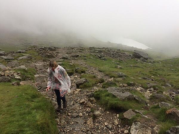 Three peaks challenge - the mist at Scaffel Pike
