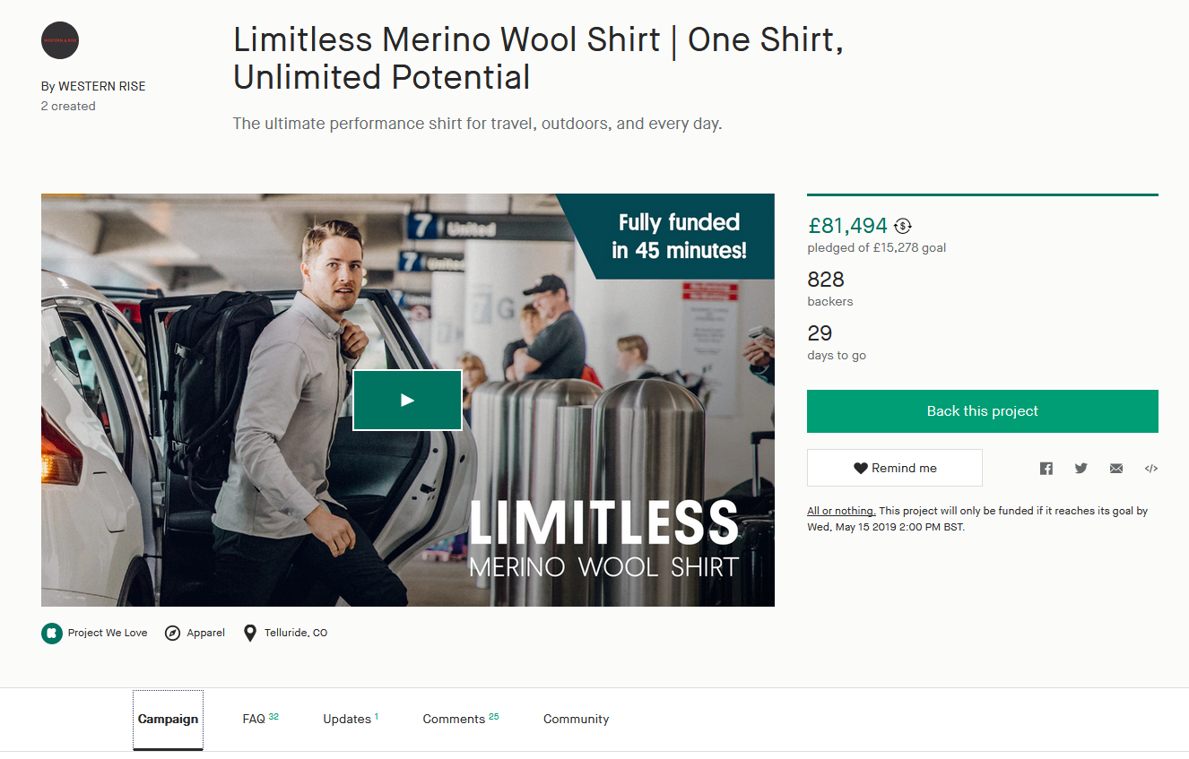 Crowdfunding Campaign Example, Wellers