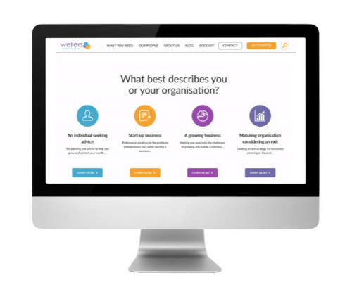 Wellers Website Homepage on Computer Monitor