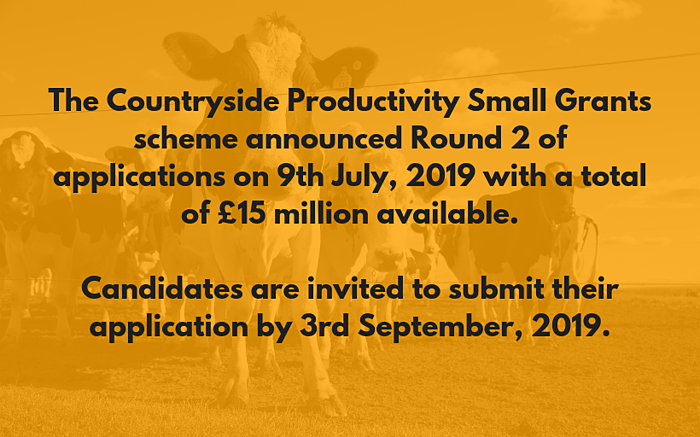 The Countryside Productivity Small Grants scheme dates, Wellers