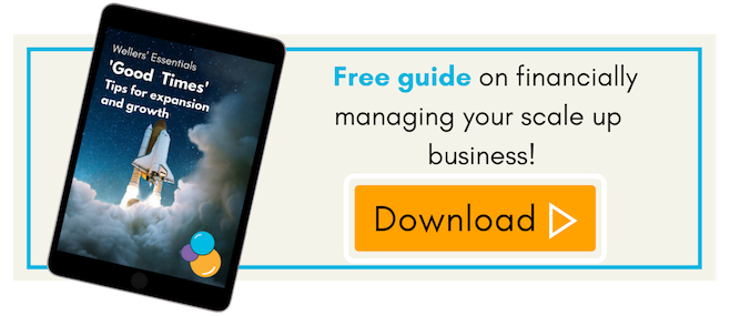 Financially managing your scale up business, free guide Wellers